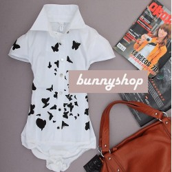 Рубашка боди с бабочкмами