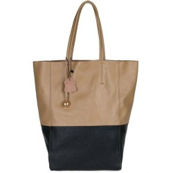 Двухцветная кожаная сумка