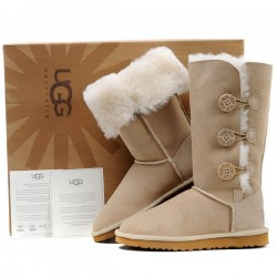 Угги из овчины с пуговицами (UGG Bailey Button Triplet)