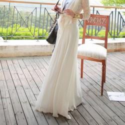 Длинная юбка с пуговицами