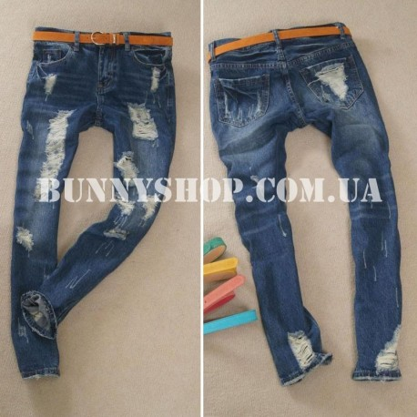 Рваные джинсы бойфренды 27 размер