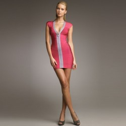 Платье  с v образным вырезом  Herve Leger