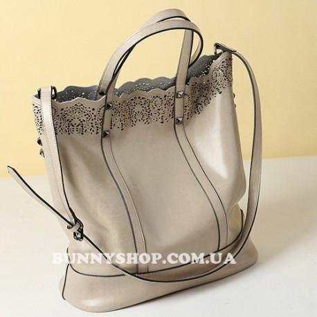 Ажурная кожаная сумка