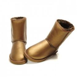 Кожаные угги  (UGG Classic Short Metallic) 35 размер